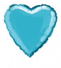 Heart Shaped Baby Blue Foil Helium Balloon